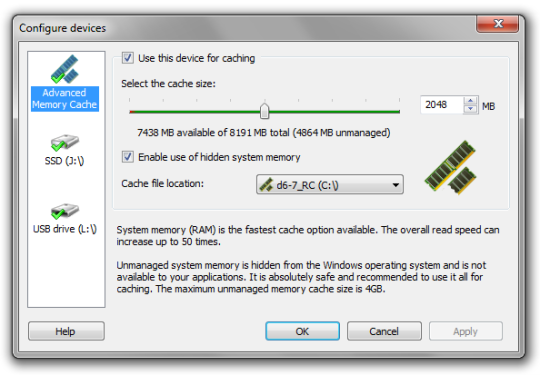 Cómo aumentar la RAM usando el USB/pendrive en Windows 10 y 8