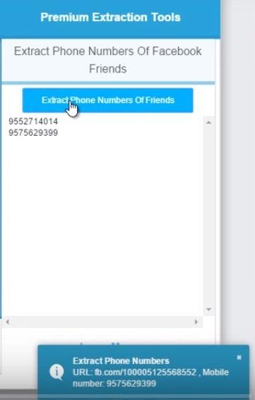 Cómo extraer el número de teléfono público de todos los amigos de Facebook