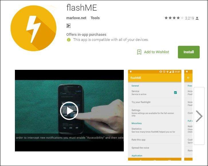 Cómo usar el flash LED como luz de notificación en Android o iPhone