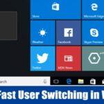 Cómo deshabilitar el cambio rápido de usuario en Windows 10