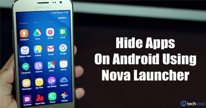 Cómo ocultar aplicaciones en Android usando Nova Launcher