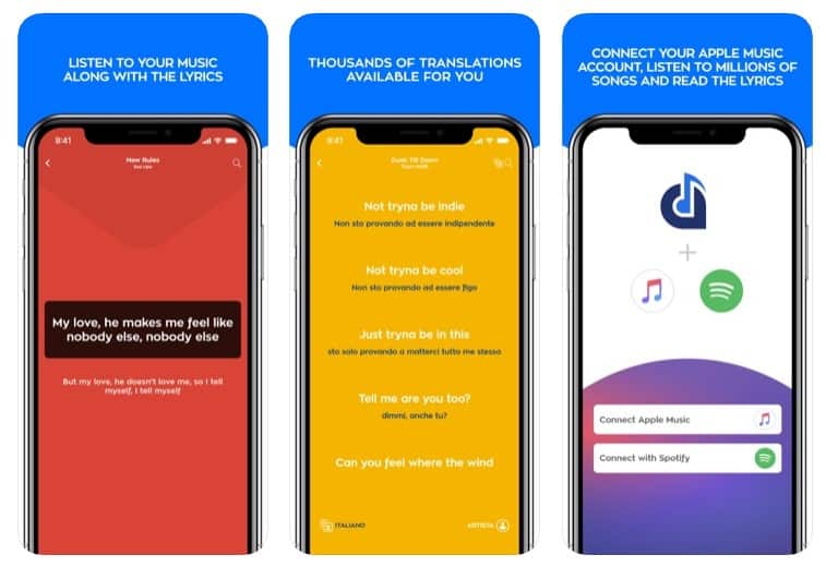 Cómo reproducir automáticamente la música con letras de canciones en el iPhone