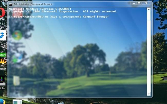 Cómo hacer que el aviso de comando sea transparente en Windows 10
