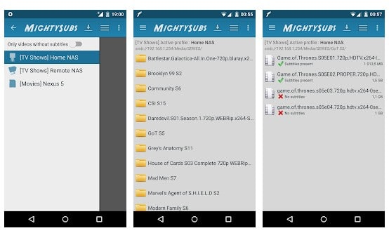 5 mejores aplicaciones para Android para descargar subtítulos
