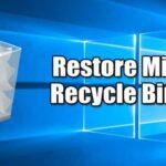 Cómo recuperar o restaurar el icono de la papelera de reciclaje que falta en Windows