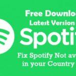 ¿Cómo solucionar el error de Spotify no disponible en tu país?
