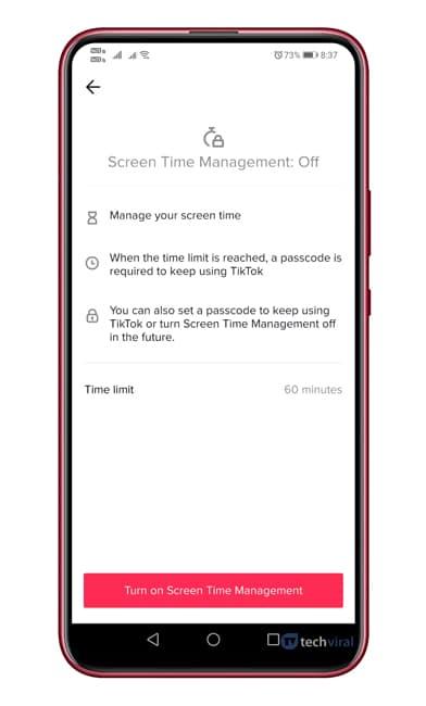 Cómo configurar el control parental de TikTok en Android
