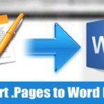 Cómo convertir los archivos de las páginas al formato de Microsoft Word