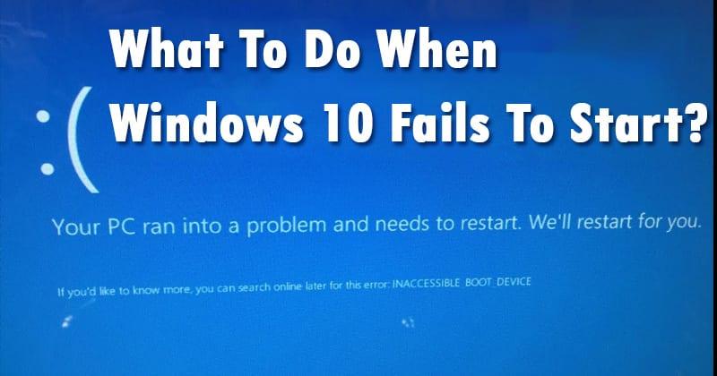 Qué debe hacer si Windows 10 no se inicia
