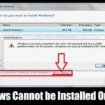 Cómo resolver el error de Windows no se puede instalar en este disco