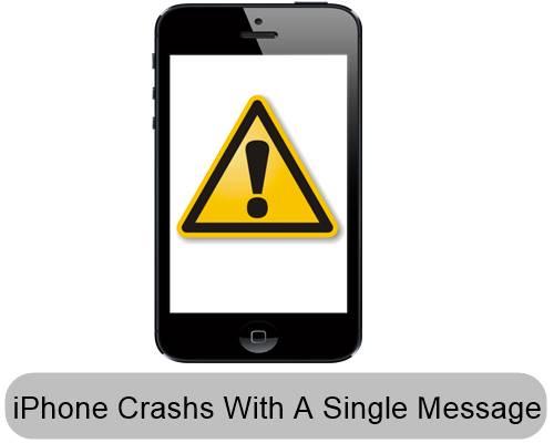 Choca cualquier iPhone con un simple mensaje de texto